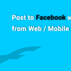 Post to facebook wall from mobile applicaiton