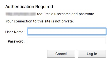 htaccess authentication